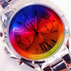 Accessories - #5 New Silver Rainbow Large Face Ladies Watch